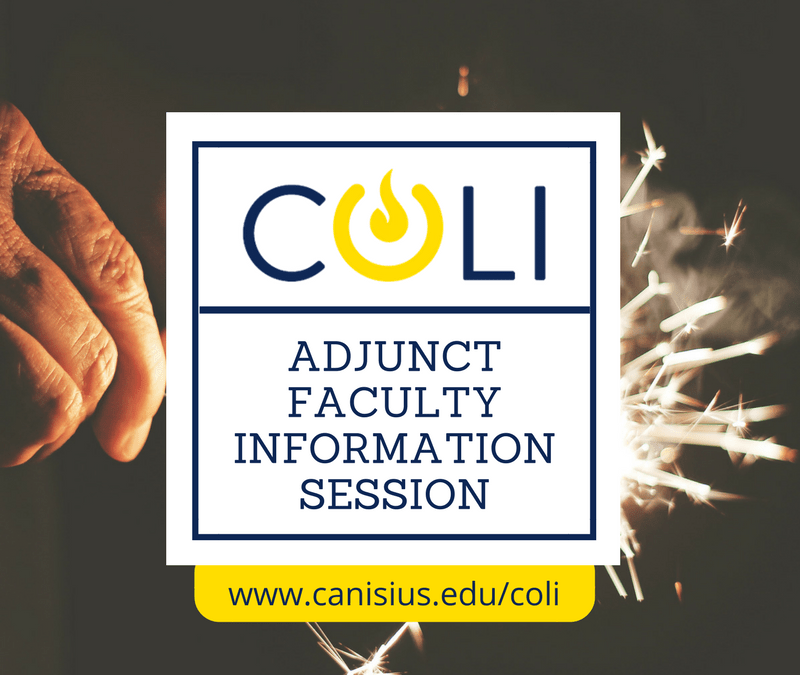 Adjunct Faculty Information Session – January 8th, 2018