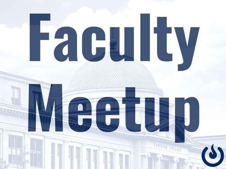 Cancelled: April 30th Faculty Meetup