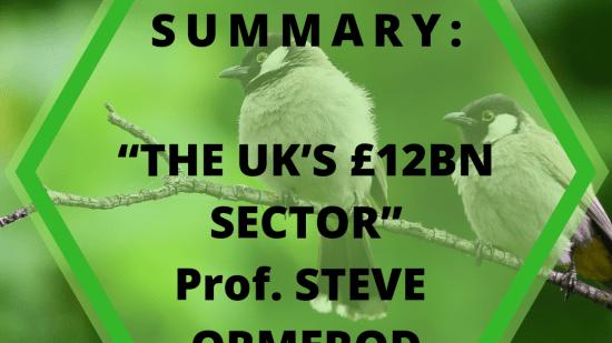 "SEMINAR SUMMARY: ""The Uk's £12bn sector"" Professor Steve Ormerod"
