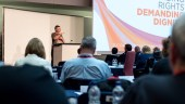 A delegate speaks at TUC Disabled Workers Conference