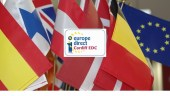 Flags of various European counries with the Cardiff EDC logo in the centre.