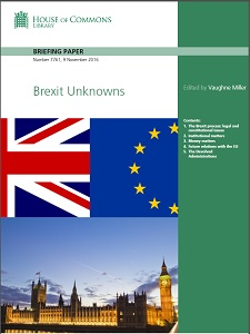 Brexit unknowns / House of Commons