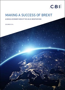 Making a success of Brexit: a whole-economy view of the UK-EU negotiations / CBI