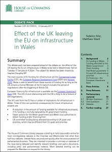 Effect of the UK leaving the EU on infrastructure in Wales / House of Commons Library