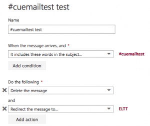 LC Email test settings