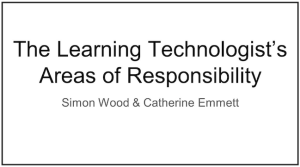 Image of title slide for LT areas of responsibility video
