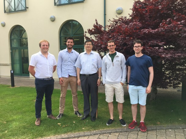 David, Ben, Shunqi, Richard and Stephen at the Summer School