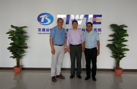 at TIWTE with Prof You and Dr Chen