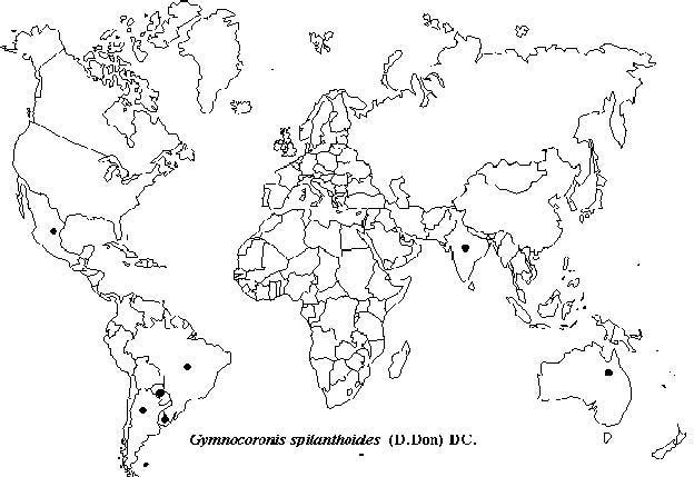 Worldwide Distribution | Gymnocoronis spilanthhoides