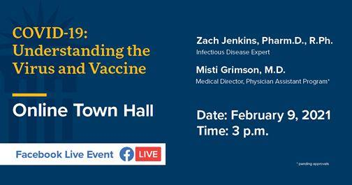 COVID town hall on February 9 at 3 p.m.
