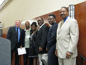 Celebration of success! (LtoR) Rev. Bruce Traeger, Mr. & Mrs Ferguson, Rev. Milton Kornegay, Rev. Victor Clay & Dr. Patrick Oliver