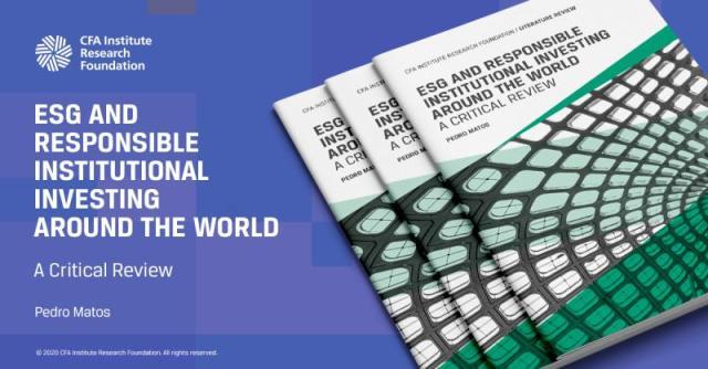 Azulejo publicitario para ESG e inversiones institucionales responsables en todo el mundo: una revisión crítica