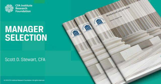Ad for Manager Selection by Scott D. Stewart, CFA