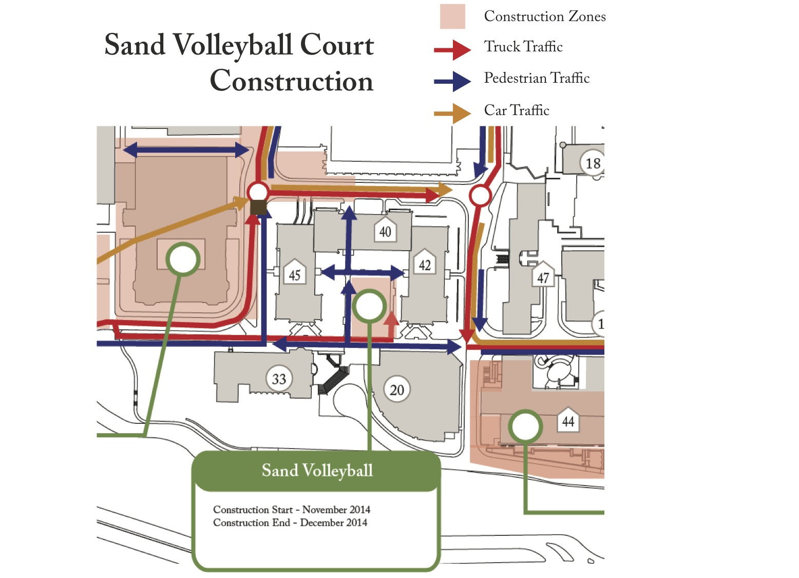 beach volleyball court diagram directv connection sand will enliven southwest quad master planning
