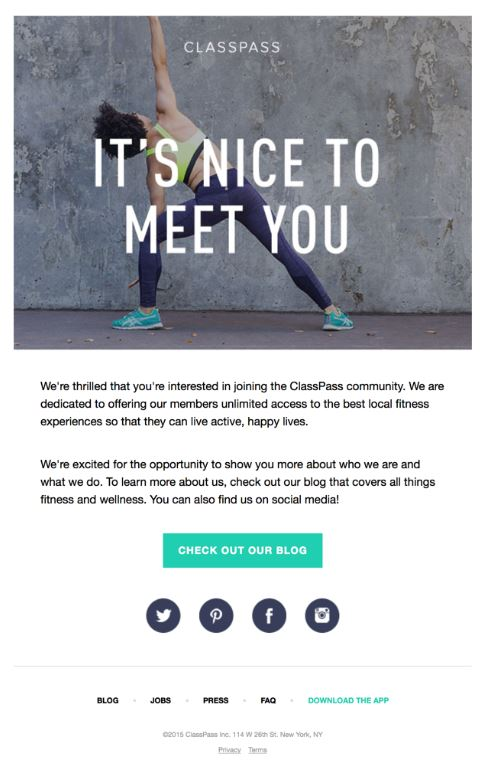 creative fitness emails