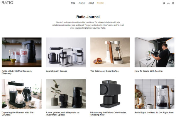 blog examples - The Ratio Journal by Ratio