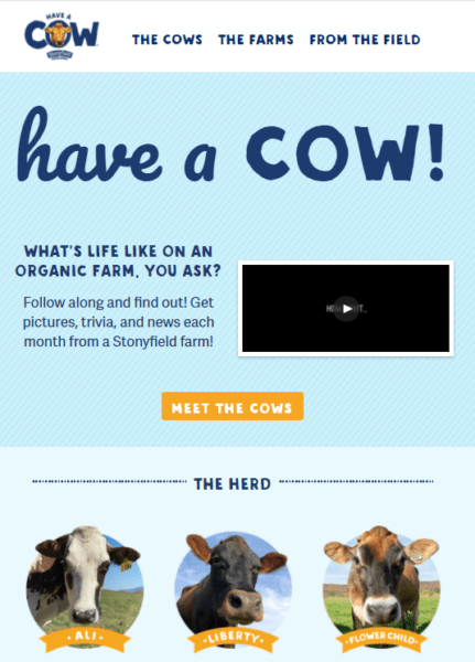 blog examples - Have a Cow by Stonyfield