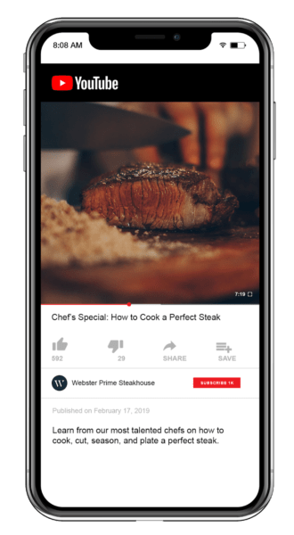 restaurant video marketing needs to look good on mobile devices as well as desktops and laptops
