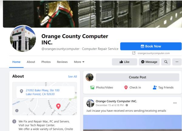 Computer repair advertising uses social media