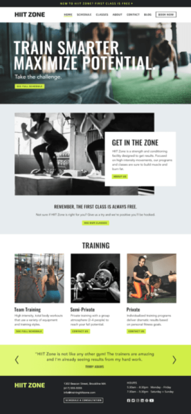 personal training marketing includes spending time on website content
