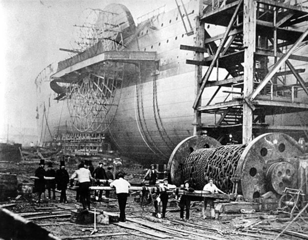 Preparing to Launch the SS Great Eastern