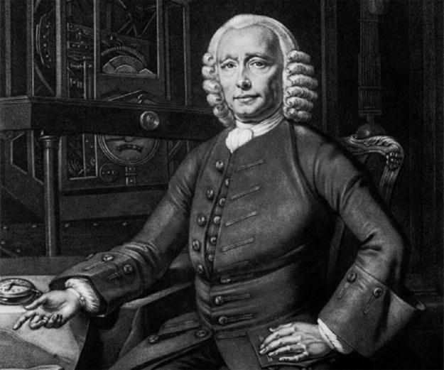 John Harrison – Shown with his H4 Marine Chronometer