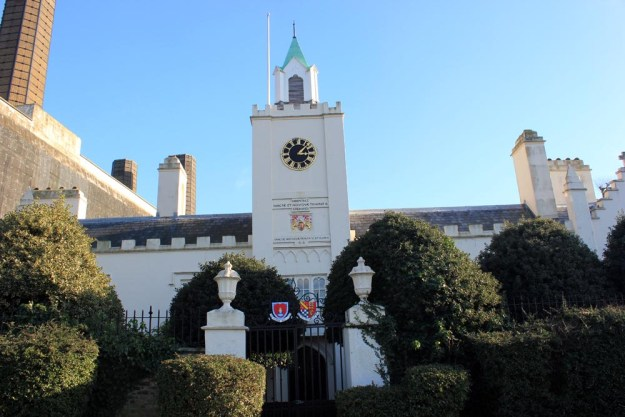 Trinity Hospice (Founded 1661) Almshouses sits beside the power station on the riverside.