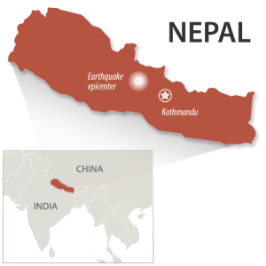 Nepal was hit with a 7.8 magnitude earthquake Saturday April 25 (MNN).
