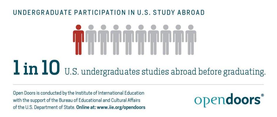Undergraduate Participation in US Study Abroad