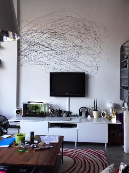 Dessin  la craie grasse sur le mur de son salon  C ma dco le blog dco de Clotilde