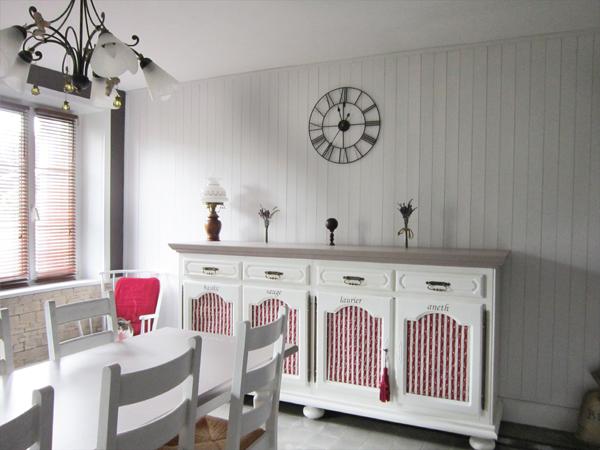 meuble rouge cuisine