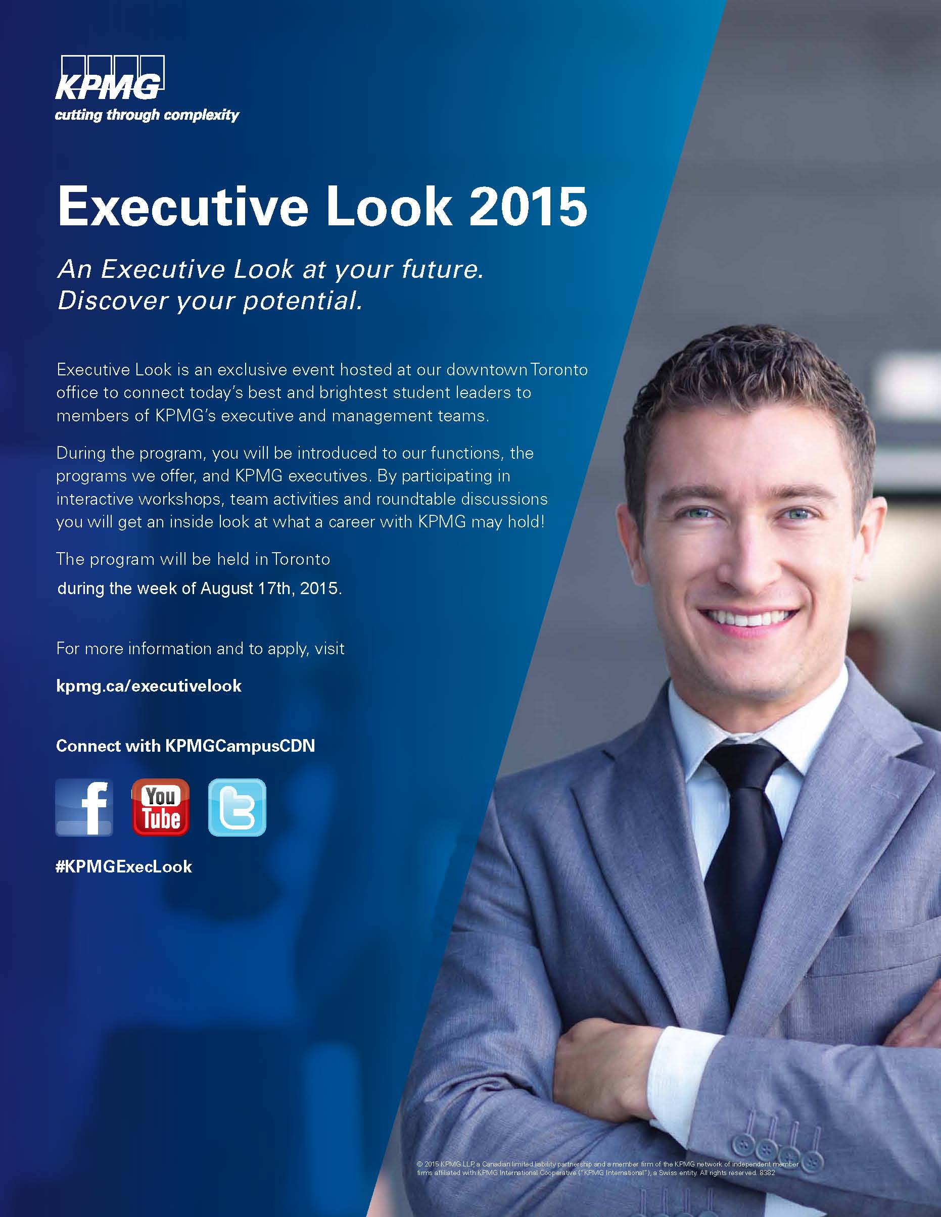 KPMG's Executive Look Summer Conference Apply To Participate!