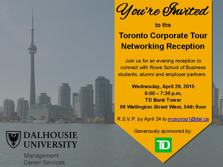 A Special Invitation For Our Toronto Employers