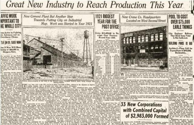 Headlines Industrial  1Jan1922