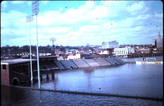Davenport's Municipal Stadium, home of the Quad-City Angels, farm team of Los Angeles Angels.