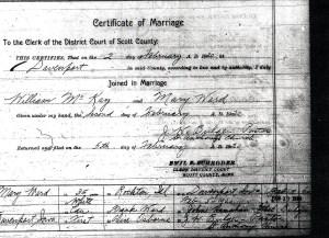 McKay Wedding License 2