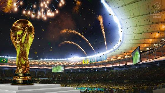 Maracanã. Crédito: game Fifa World Cup 2014/EA Sports
