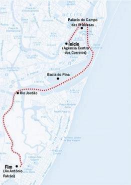 Mapa Zona Sul do Recife - navegação