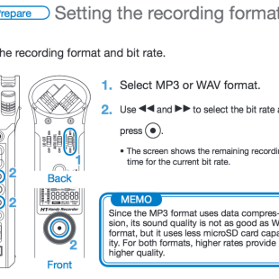 Recording Format