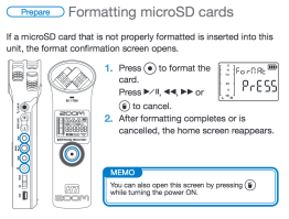 Format instructions