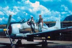 Ravens T-28 at Luang Prabang - Craig Bradford and Chuck