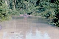 Joe riding his motorcycle in Laos