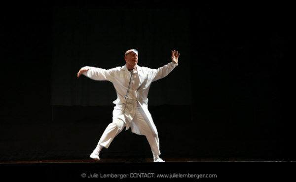"Peter Selwyn as a dancing doctor in ""Grand Rounds"" a dance by Tamar Rogoff at La Mama"