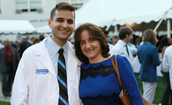 Einstein medical student Ilirjan Gjonbalaj and mom
