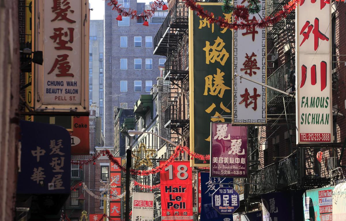 Street scene Chinatown NYC