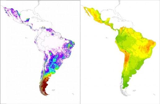 Mapas de recurso eólico y solar en América Central y Suramérica (resultados preliminares del estudio Red del Futuro del BID).