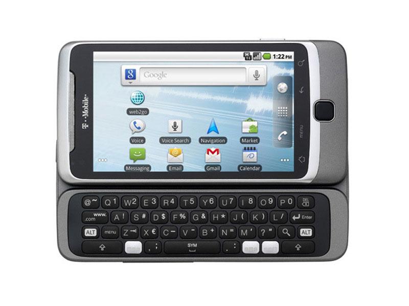 imagen de celular de primera generación usando Android 1.5