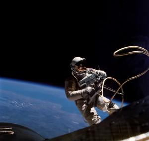 E.V.A = Extravehicular activity o spacewalk.