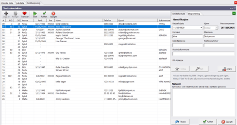 FastTrak Infection tracking functionality