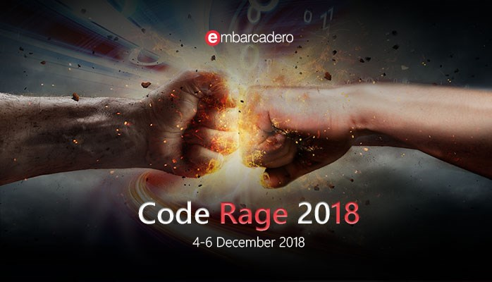 CodeRage 2018 December 4th to 6th